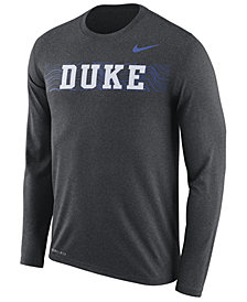 Nike Men's Duke Blue Devils Legend Sideline Long Sleeve T-Shirt 2018