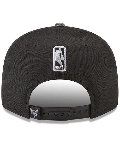 the latest 24967 47d83 New Era Charlotte Hornets Snakeskin Sleek 9FIFTY Snapback Cap ...