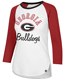 '47 Brand Women's Georgia Bulldogs Script Splitter Raglan T-Shirt