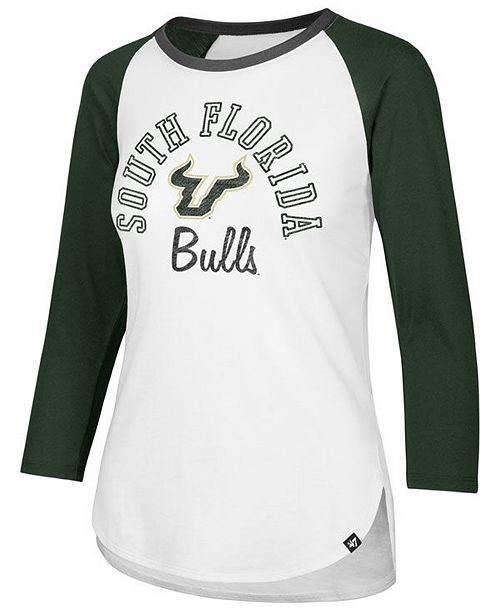 big sale b9d23 9f15e ...  47 Brand Women s South Florida Bulls Script Splitter Raglan T-Shirt     ...