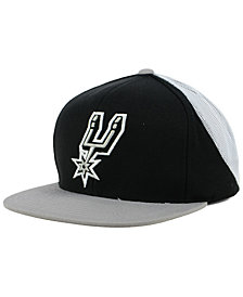 Mitchell & Ness San Antonio Spurs Curved Mesh Snapback