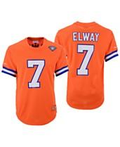 7bf4f1323aaef Mitchell   Ness Men s John Elway Denver Broncos Mesh Name and Number  Crewneck Jersey