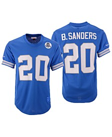 Men's Barry Sanders Detroit Lions Mesh Name and Number Crewneck Jersey