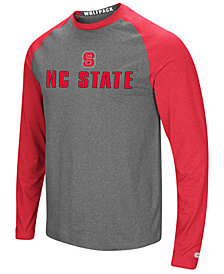 Colosseum Men's North Carolina State Wolfpack Social Skills Long Sleeve Raglan Top