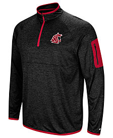 Colosseum Men's Washington State Cougars Amnesia Quarter-Zip Pullover