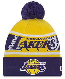 New Era Boys' Los Angeles Lakers Jr. Callout Pom Hat
