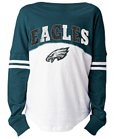 5th & Ocean Philadelphia Eagles Slub Long Sleeve T-Shirt, Girls (4-16)