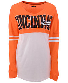 5th & Ocean Women's Cincinnati Bengals Sweeper Long Sleeve T-Shirt