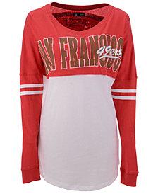 5th & Ocean Women's San Francisco 49ers Sweeper Long Sleeve T-Shirt