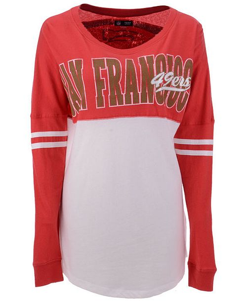 ff346bb55 ... T-Shirt  5th   Ocean Women s San Francisco 49ers Sweeper Long Sleeve ...