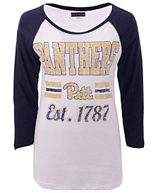 Women's Pittsburgh Panthers Team Stripe Raglan T-Shirt