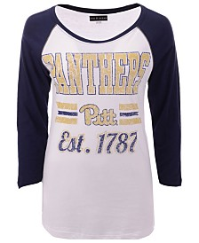 5th & Ocean Women's Pittsburgh Panthers Team Stripe Raglan T-Shirt