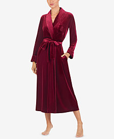 Lauren Ralph Lauren Velvet Long Wrap Robe