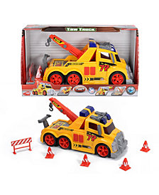 Dickie Toys - Majorette Action Series Tow Truck And Accessories