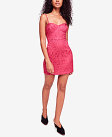 Free People Karla Jacquard Sweetheart Mini Dress