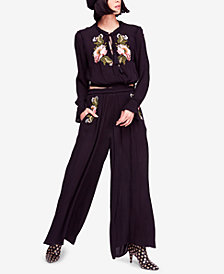 Free People Wonderland Embroidered Pant Set