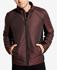 GUESS Men's Iridescent Moto Jacket