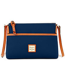 Dooney & Bourke Ginger Pebble Leather Pouchette