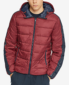 A|X Armani Exchange Men's Colorblocked Hooded Puffer Coat