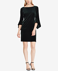 American Living Velvet Bell-Sleeve Dress