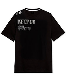 A X Armani Exchange Men's Tonal Off-Center Logo T-Shirt