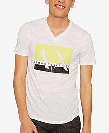A|X Armani Exchange Men's V-Neck Logo T-Shirt