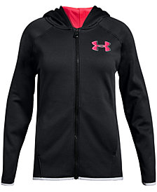 Under Armour Big Girls AF Zip-Up Logo Hoodie