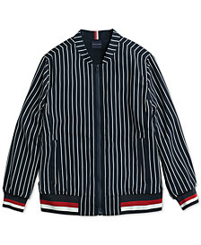 Tommy Hilfiger Women's Margo Pinstripe Bomber from The Adaptive Collection