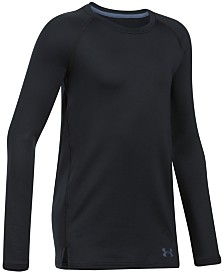 18f3857b558c Under Armour Big Girls Dual-Layer Logo-Print T-Shirt