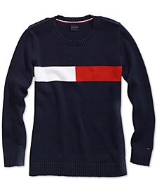 Women's Colorblocked Sweater with Magnetic Closures at Shoulders