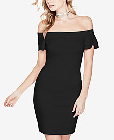 GUESS Molly Tulip-Sleeve Bodycon Dress