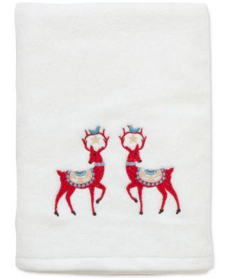 Dena Folkloric Cotton Embroidered Bath Towel