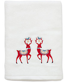 CLOSEOUT! Dena Folkloric Cotton Embroidered Bath Towel