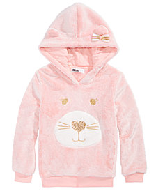 Epic Threads Toddler Girls Plush Cat-Face Hoodie, Created for Macy's