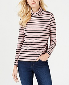 Ribbed Striped Turtleneck, Created for Macy's