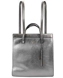 T Tahari Sienna Leather Backpack