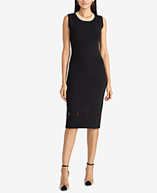 RACHEL Rachel Roy Camilla Ribbed-Knit Dress