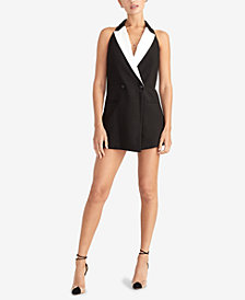RACHEL Rachel Roy Tuxedo Romper, Created for Macy's