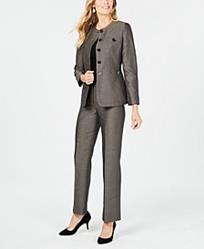 Button Detail Pantsuit