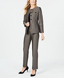 Le Suit Five-Button Pantsuit