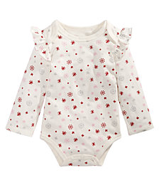 First Impressions Baby Girls Snowflake Bodysuit, Created for Macy's