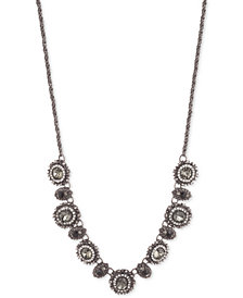 "Marchesa Hematite-Tone Stone & Crystal Collar Necklace, 16"" + 3"" extender"