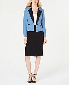 Le Suit Petite Crepe Skirt Suit