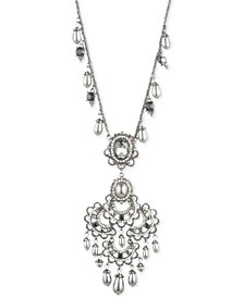 "Marchesa Hematite-Tone Imitation Pearl & Stone 44"" Pendant Necklace"