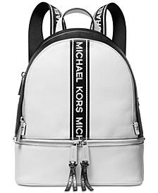 Rhea Zip Logo Pebble Leather Backpack