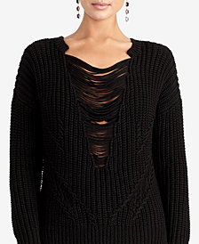 RACHEL Rachel Roy Rina Shredded Sweater