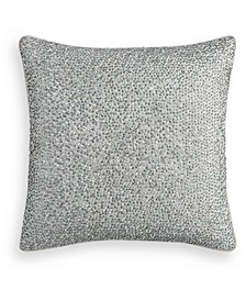 "Dimensional Beaded 18"" Square Decorative Pillow, Created for Macy's"