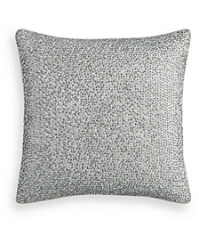 "Hotel Collection Dimensional Beaded 18"" Square Decorative Pillow, Created for Macy's"