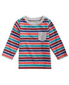 First Impressions Toddler Boys Long-Sleeve Striped T-Shirt, Created for Macy's