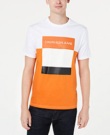Calvin Klein Jeans Men's Triple Colorblocked Logo Graphic T-Shirt